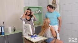 Janitor Bangs Busty Babes Sensual Jane & Kyra Hot During Learning Break