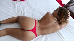 Brunette bombshell Keisha Grey rides dick on the bed