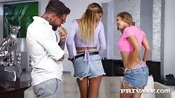 Private Jayla De Angelis And Zlata Shine - Groupies Addicted To Anal